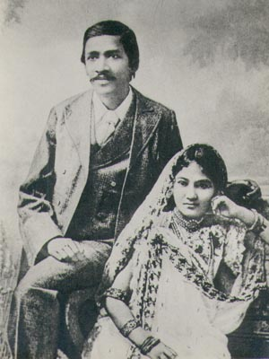 Aurobindo with his Wife Mirnalini
