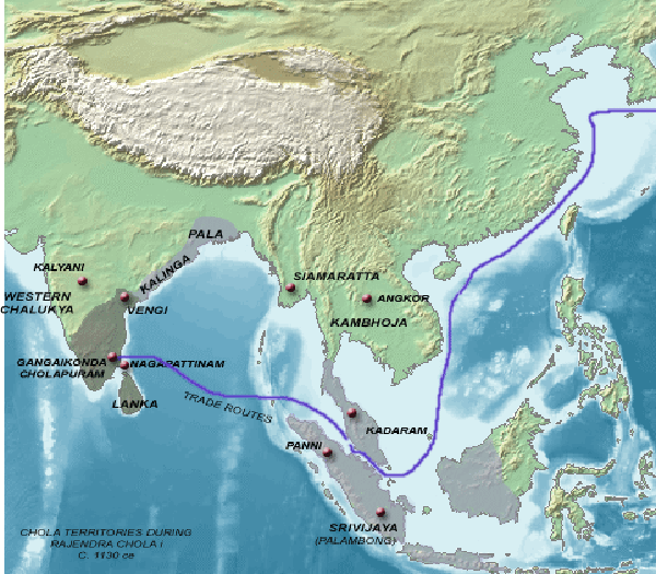 Chola Empire at the height of its Power circa 1050 AD