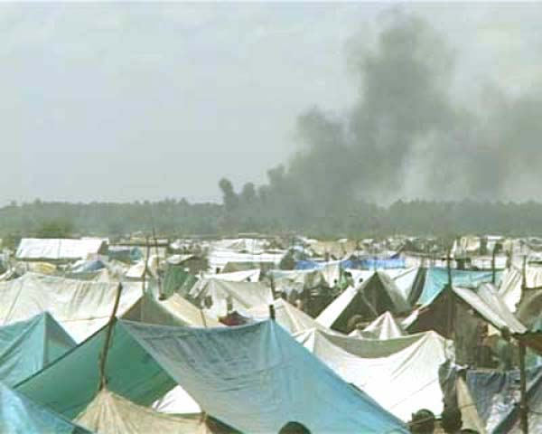 Camp for Displaced Tamils - But Sri Lanka Bombs
