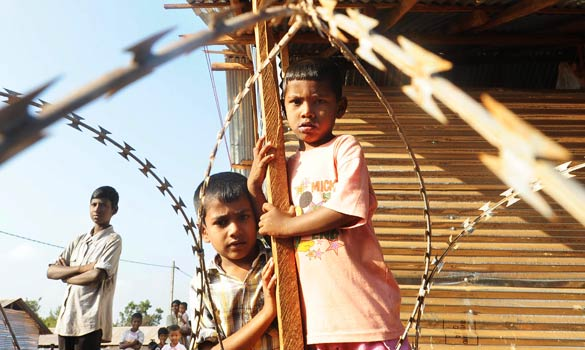 Tamil Refuges in Sri Lanka Concentration Camp
